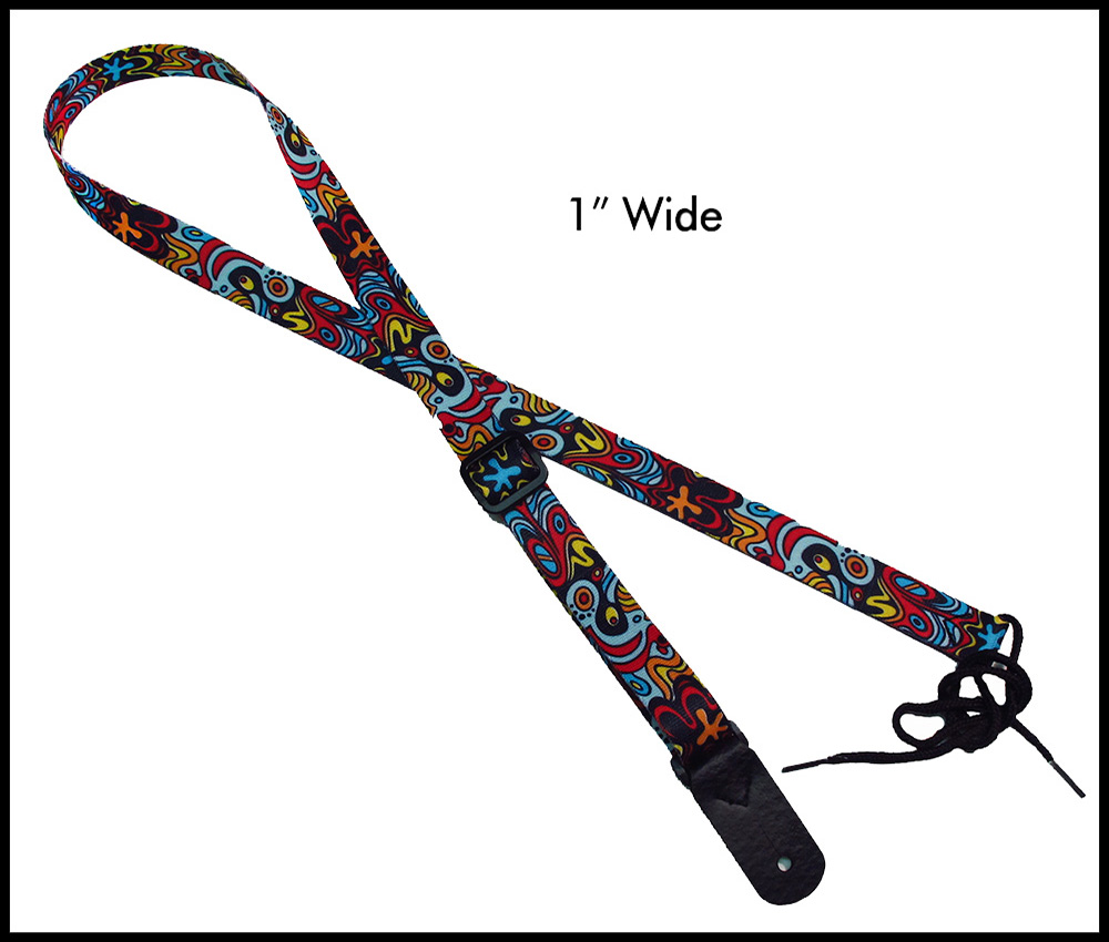 Abstract 1 Inch Mandolin Strap