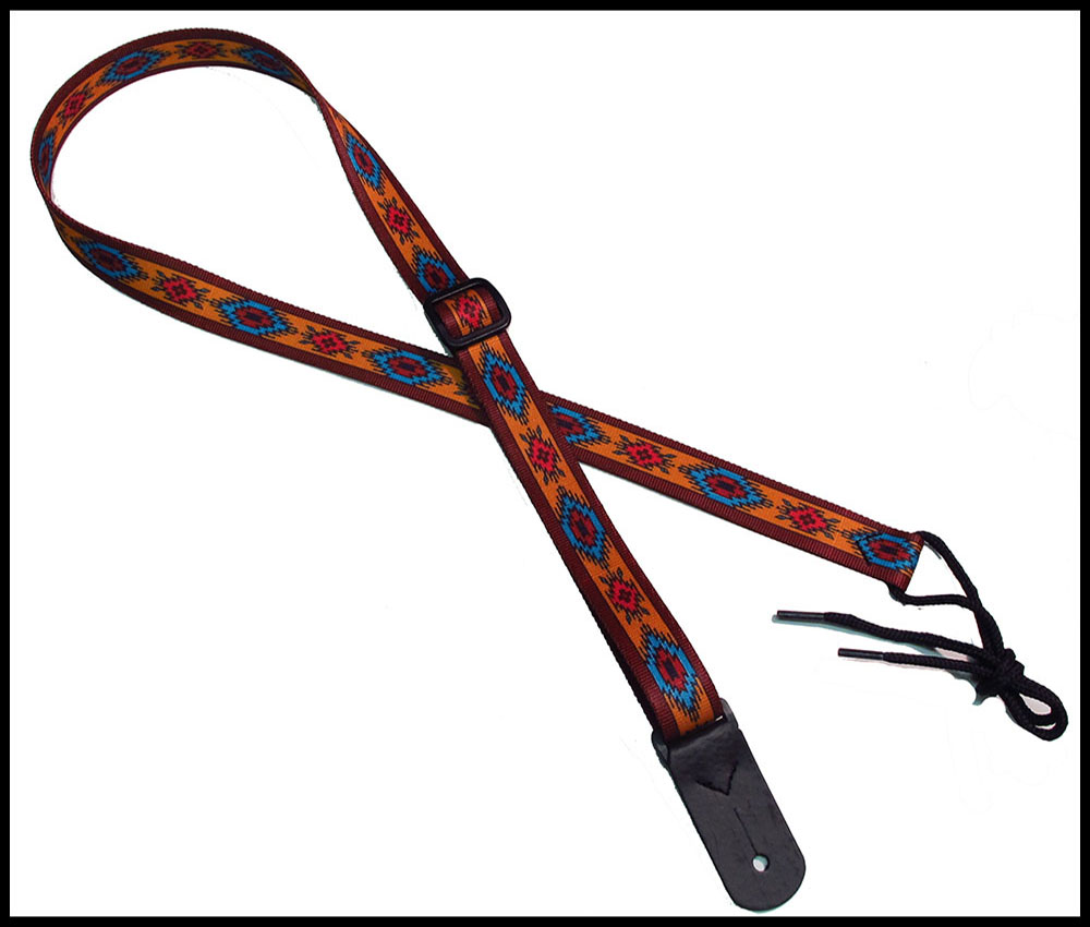 Indian Spirit Rust 1 Inch Mandolin Strap