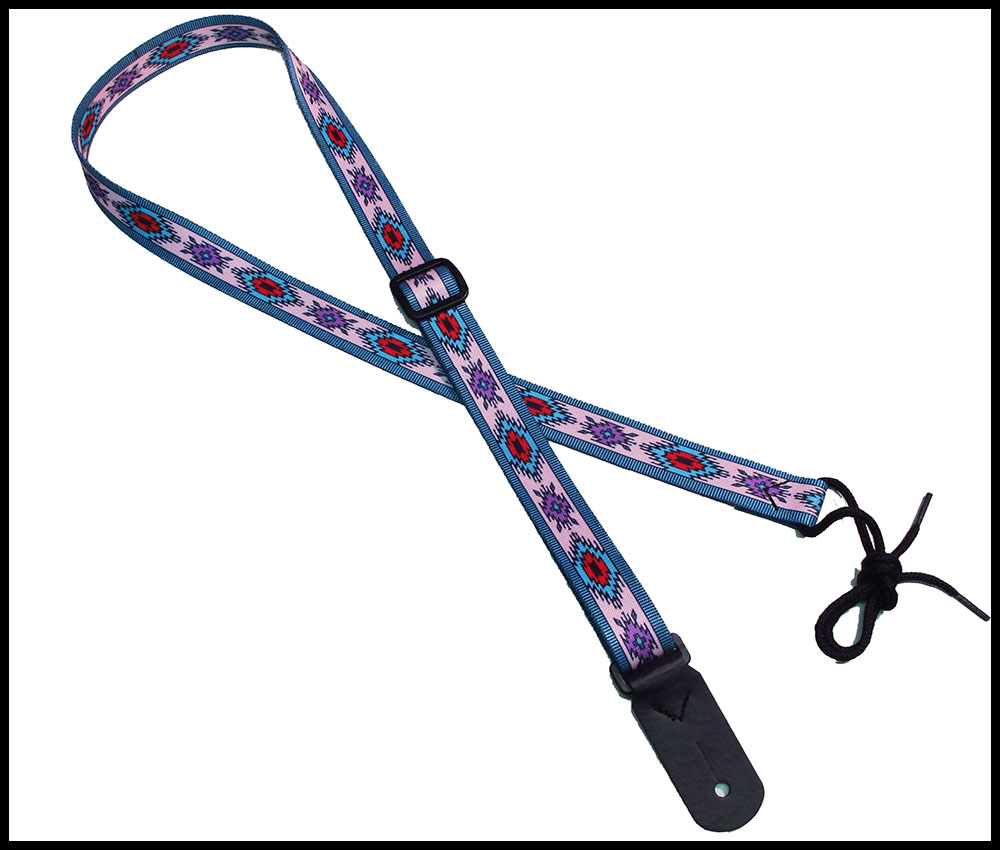 Indian Spirit Pink 1 Inch Mandolin Strap