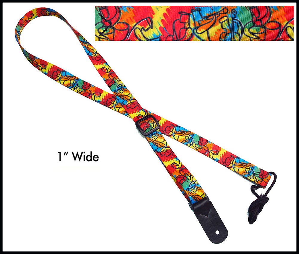 Jazz Paint 1 Inch Mandolin Strap