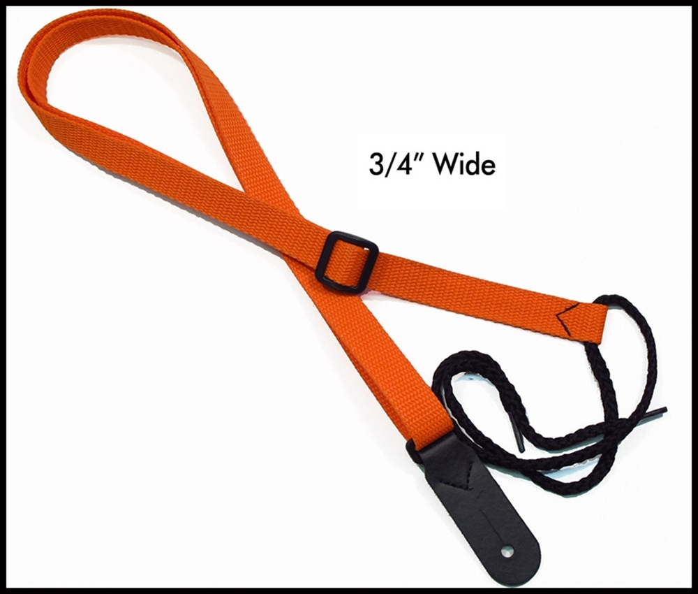 Orange 3/4  Inch Mandolin Strap