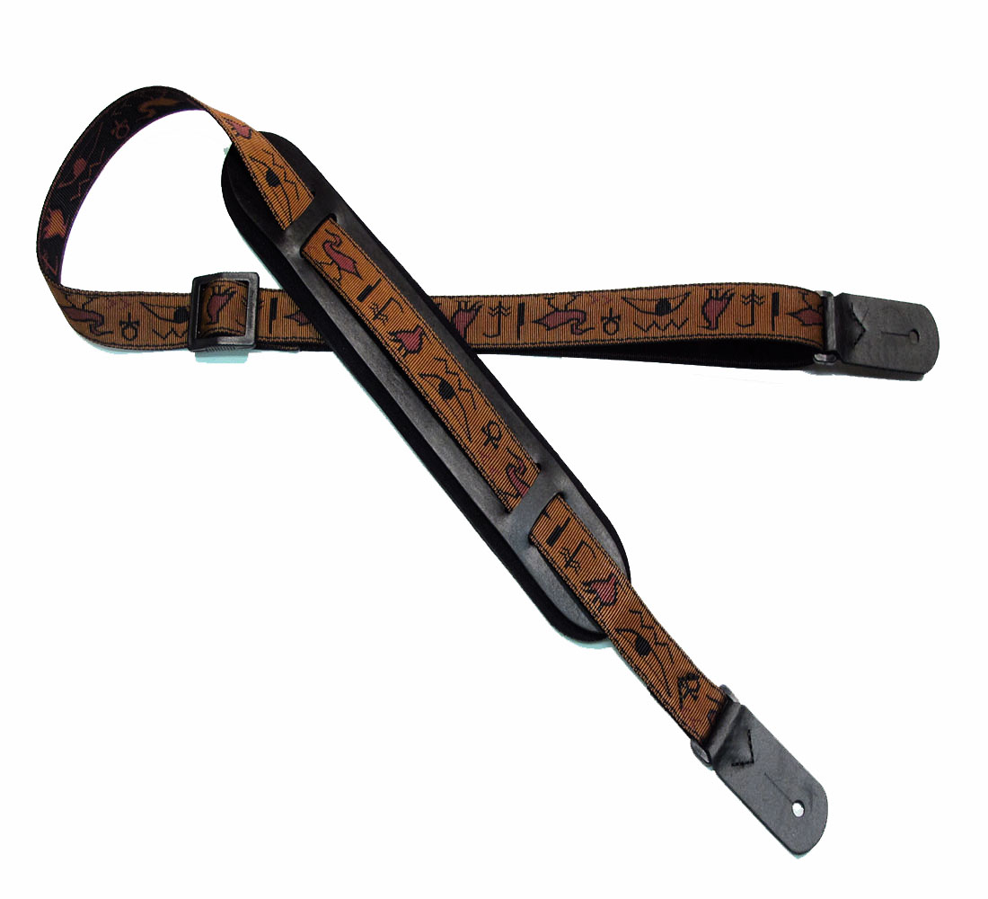 Egyptian Rockabilly padded guitar strap