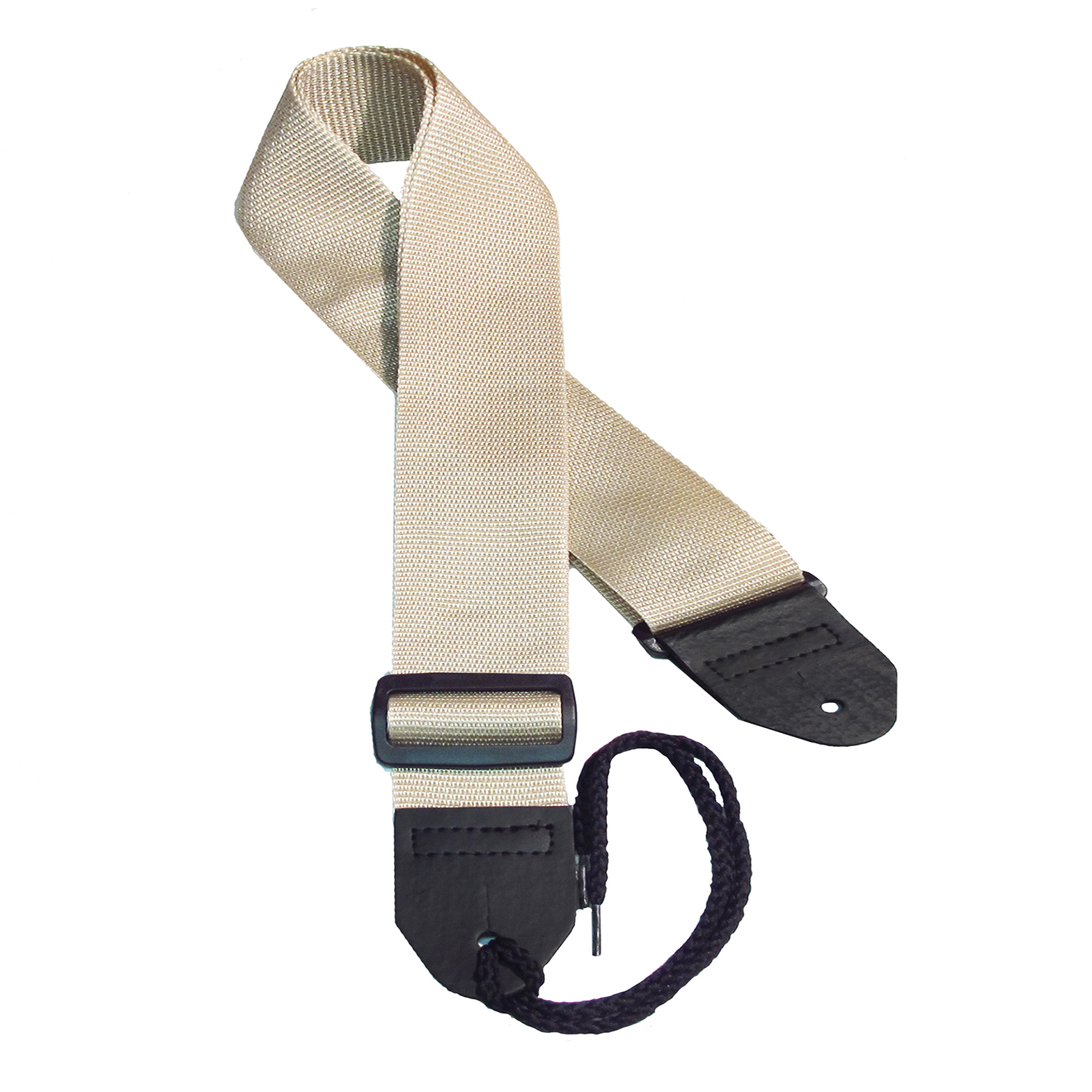 Beige poly guitar strap