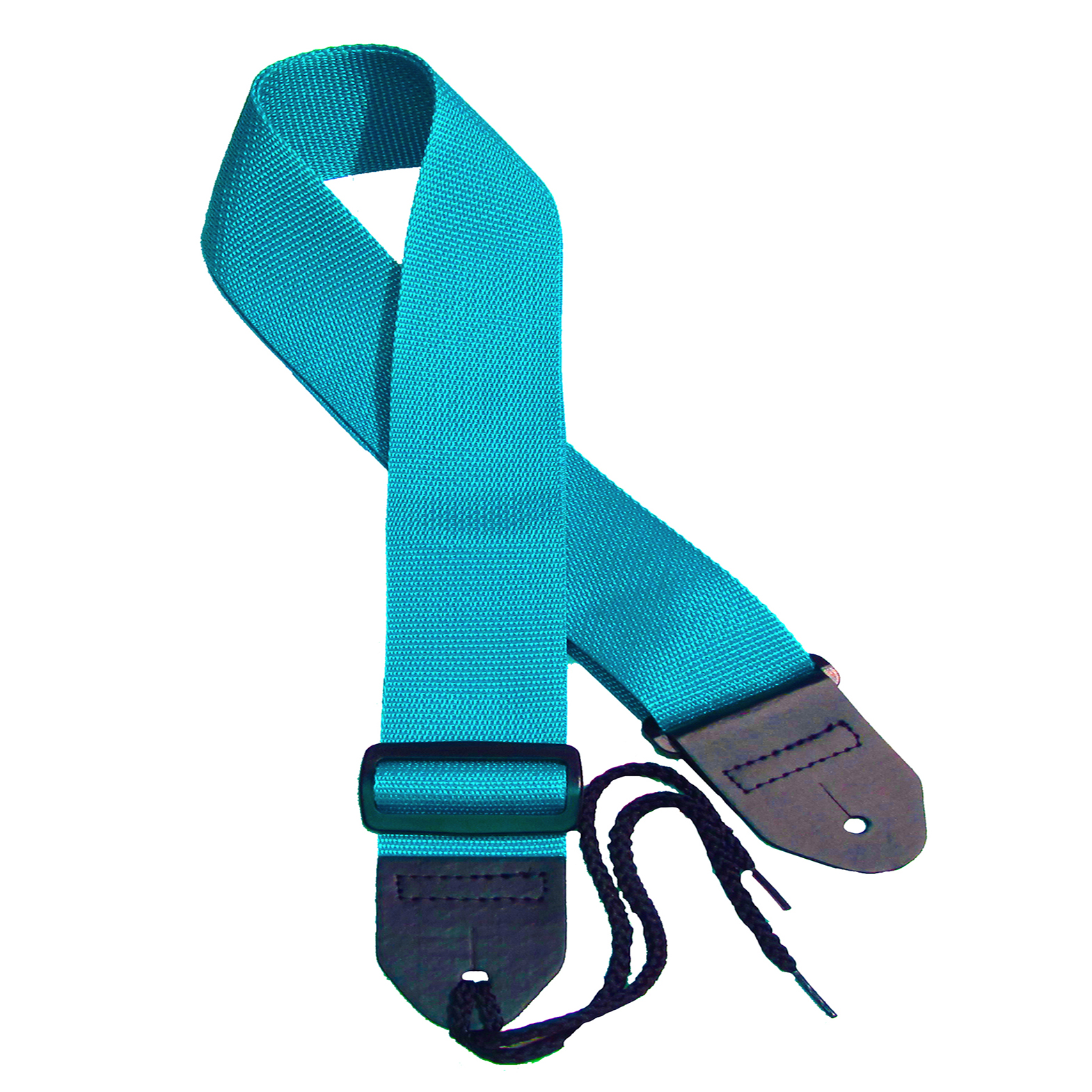 Turquoise poly guitar strap