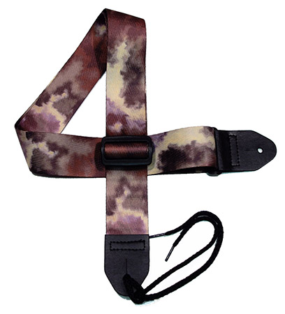 Brown 10  Tie-dye Guitar Strap