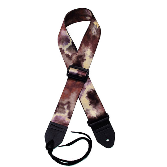 Dark Brown Tie-dye Guitar Strap
