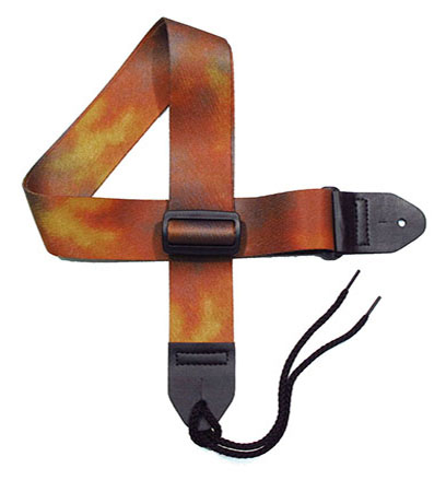 Brown Tie-dye Guitar Strap