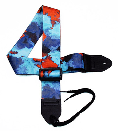 Red Tie-dye Guitar Strap