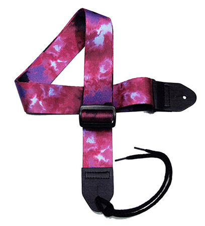 Purple Tie-dye Guitar Strap