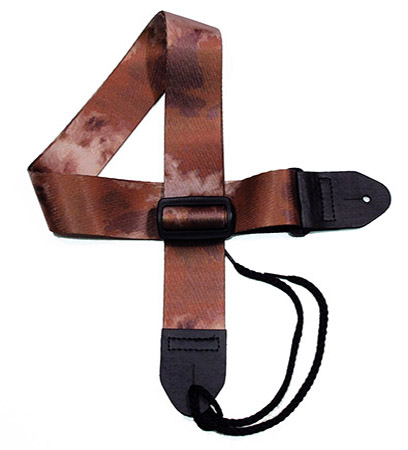 Brown 9 Tie-dye Guitar Strap